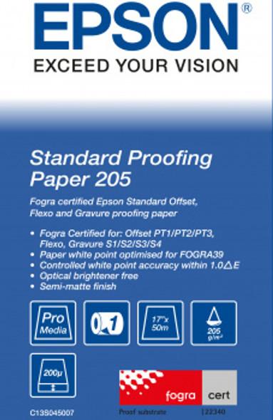 "Epson Standard Proofing Paper, 17"" x 50m, 205g/m² | C13S045007"