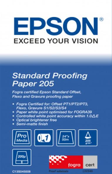 "Epson Standard Proofing Paper, 24"" x 50m, 205g/m² | C13S045008"