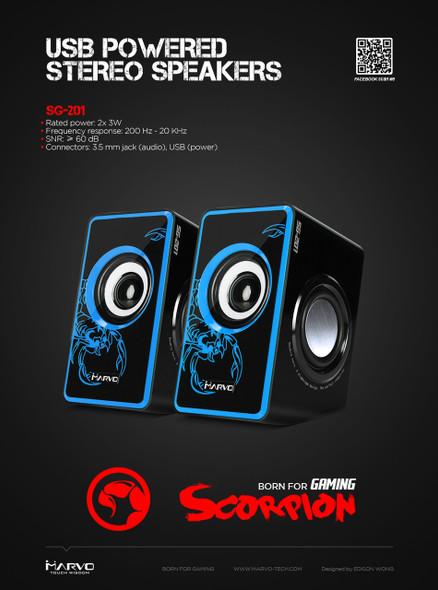 MARVO SCORPION SG-201 USB POWERED STEREO SPEAKERS