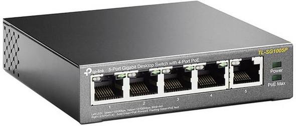 TPLINK 5-Port Gigabit With 4-Port POE Desktop Switch | SG1005P
