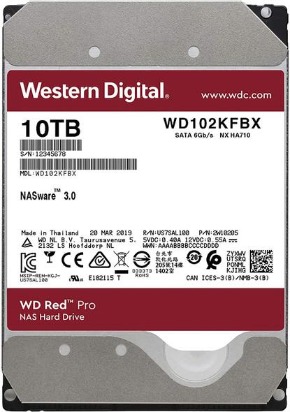 WD Red Pro 10 TB 3.5 Inch NAS Internal Hard Drive - 7200 RPM | WD102KFBX