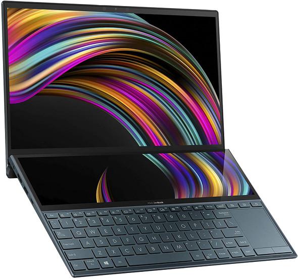 "ASUS ZenBook Duo UX481 14"" FHD NanoEdge Bezel Touch Display, Intel Core i7-10510U CPU, 8GB RAM, 512GB PCIe SSD, Innovative ScreenPad Plus, Windows 10 Home, Celestial Blue, UX481FA-DB71T (192876659823)"