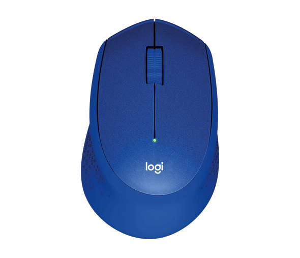 Logitech M330 Silent Plus Wireless Mouse – Enjoy Same Click Feel with 90% Less Click Noise, 2 Year Battery Life, Ergonomic Right-Hand Shape for Computers and Laptops, USB Unifying Receiver, Blue