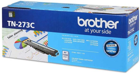 Brother Genuine Standard Yield Cyan Ink Printer Toner Cartridge | TN-273C