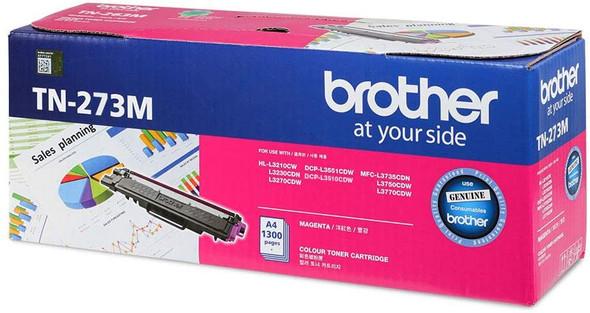 Brother Genuine Standard Yield Magenta Ink Printer Toner Cartridge | TN-273M