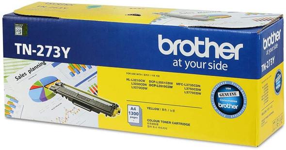 Brother Genuine Standard Yield Yellow Ink Printer Toner Cartridge | TN-273Y