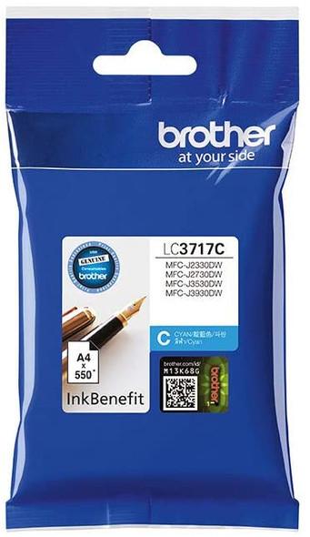 Brother Genuine High Yield Cyan Printer Ink Cartridge | LC3717C