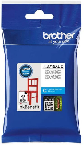 Brother Genuine Super High Yield Cyan Printer Ink Cartridge | LC3719XLC