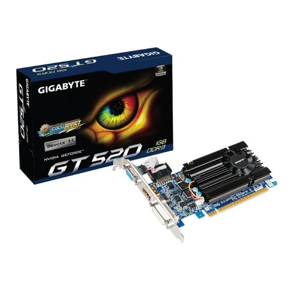 GIGABYTE VGA Geforce GT 520 Turbocache to 1GB DDR3
