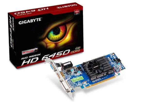 GIGABYTE VGA Radeon HD 6450 - 1GB DDR3