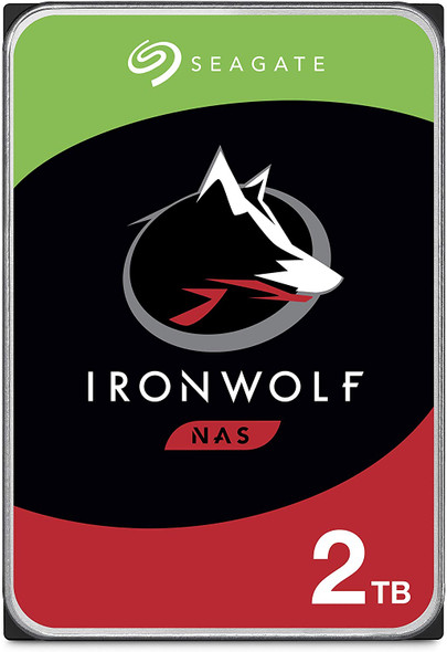 Seagate IronWolf 2TB NAS Internal Hard Drive HDD – 3.5 Inch SATA 6Gb/s 5900 RPM 64MB Cache for RAID Network Attached Storage | ST2000VN004