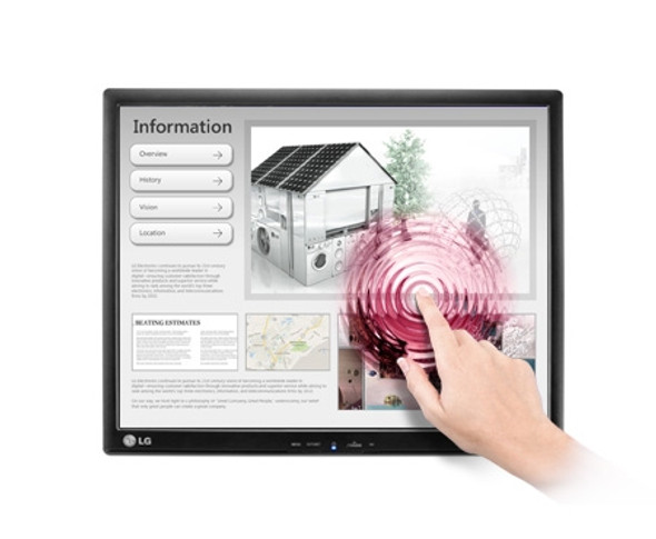 """LG LED SCREEN Touch 17MB15T B 17"""" Monitor with HD Resolution"""
