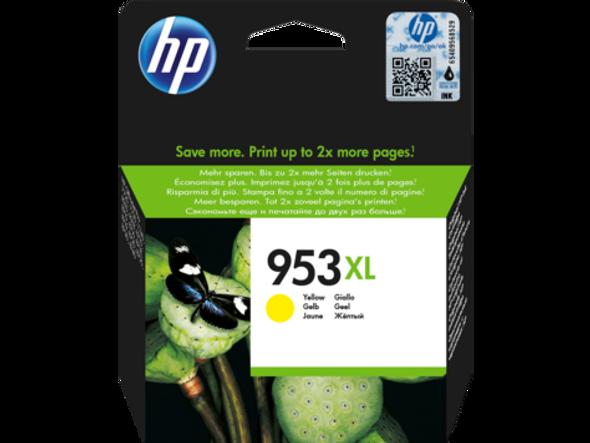 HP 953XL High Yield Yellow Original Ink Cartridge (F6U18AE)