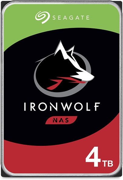 Seagate 4TB IronWolf NAS SATA Hard Drive 6Gb/s 256MB Cache 3.5-Inch Internal Hard Drive for NAS Servers, Personal Cloud Storage | ST4000VN008