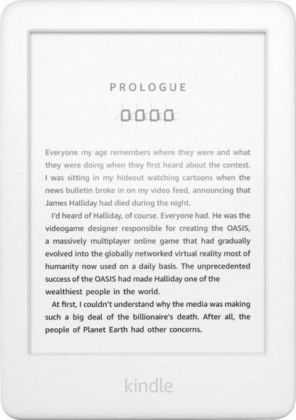Kindle Now With a Built-in Front Light White Ad Supported