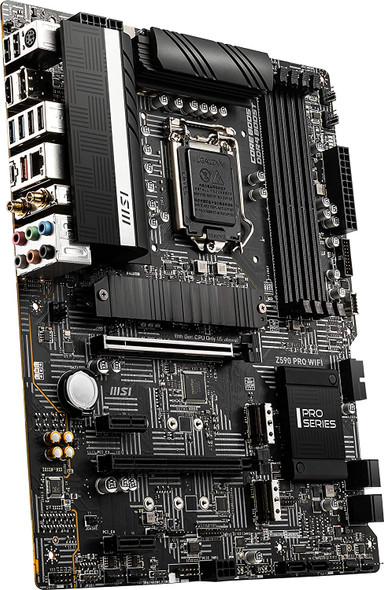 MSI Z590 PRO WiFi ProSeries Motherboard (ATX, 11th/10th Gen Intel Core, LGA 1200 Socket, DDR4, PCIe 4, M.2 Slots, USB 3.2 Gen 2, 2.5G LAN, DP/HDMI, Wi-Fi 6E) | Z590 PRO WiFi