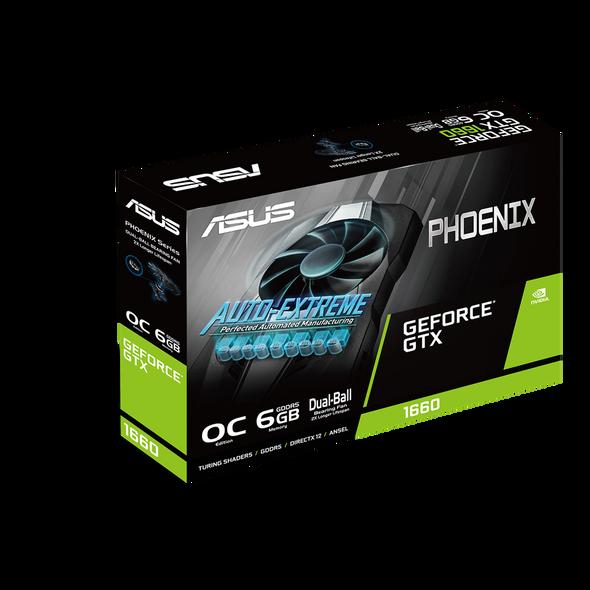 ASUS Phoenix GeForce® GTX 1660 OC edition 6GB GDDR5 | GTX 1660 OC