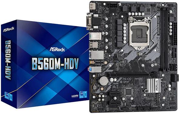 ASROCK Intel SOCKET1200 for Intel 10TH/11TH GEN CORE | B560M-HDV