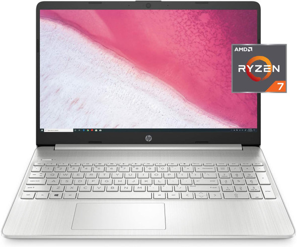 "HP Ryzen 7-3700/8/256GB SSD Win10 Natural Silver 15.6"" Laptop   15-EF0022NR"