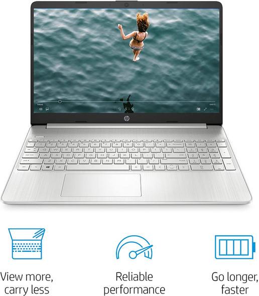 "HP Ryzen 7-3700/8/256GB SSD Win10 Natural Silver 15.6"" Laptop | 15-EF0022NR"