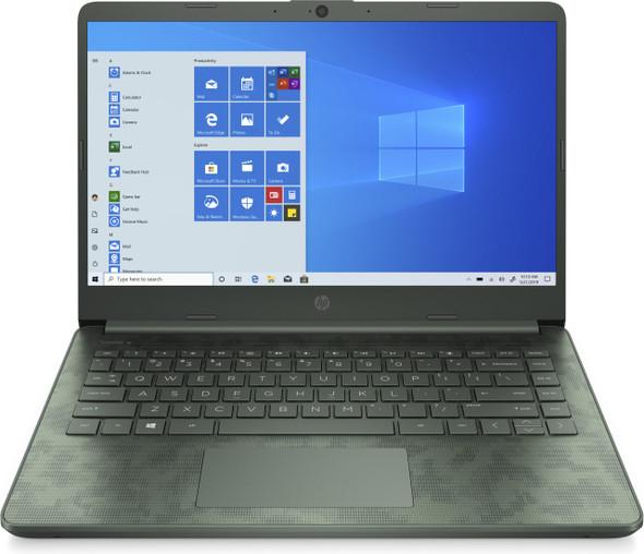 """HP 14-DQ2088 I5-1135/8/256GB SSD Win10 14"""" Aspen Geen Camo Laptop   2K4P8UA#ABA"""
