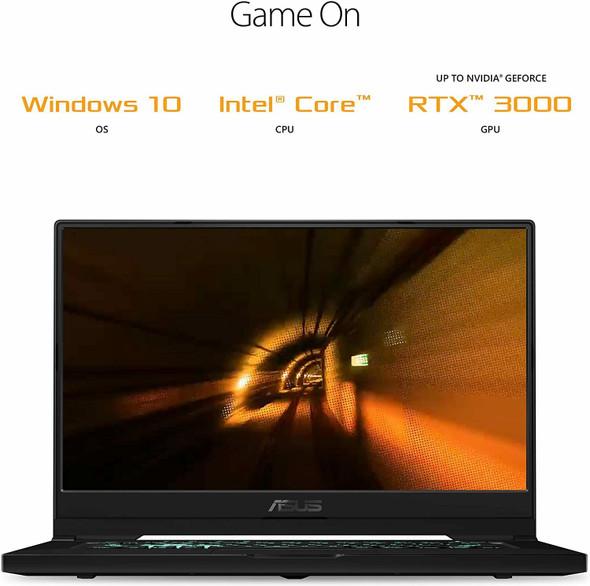 "Asus TUF Dash 15 I7/8/512GB PCIe NVMe SSD RTX3050TI 15.6"" FHD Ultra Slim Laptop | TUF516PE-AB73"