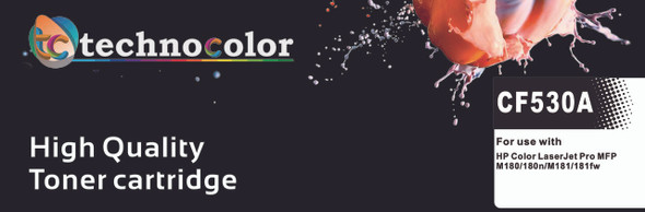 TechnoColor 205A BLACK HP Compatible LaserJet Toner Cartridge (CF530A)