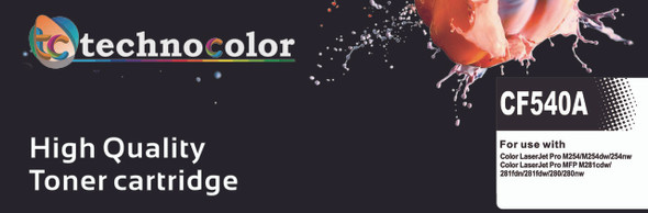 TechnoColor 203A HP Compatible LaserJet Toner Cartridge ( CF540A, CF541A ,CF542A, CF543A )