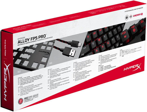HyperX Alloy FPS Pro - Tenkeyless Mechanical Gaming Keyboard - 87-Key, Ultra-Compact Form Factor - Clicky - Cherry MX Blue - Red LED Backlit | HX-KB4BL1-US/WW