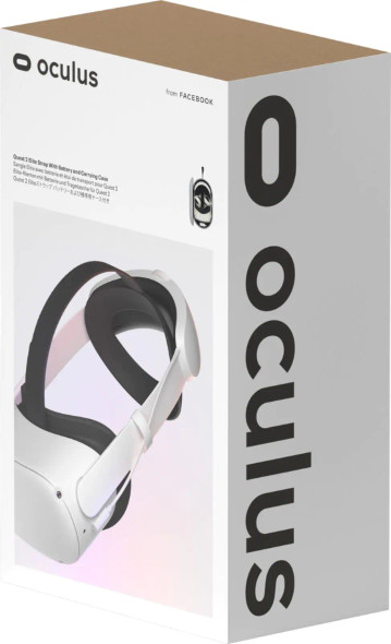 Oculus - Quest 2 Elite Strap with Battery and Carrying Case for Enhanced Comfort and Playtime in VR - Gray | 301-00370-01