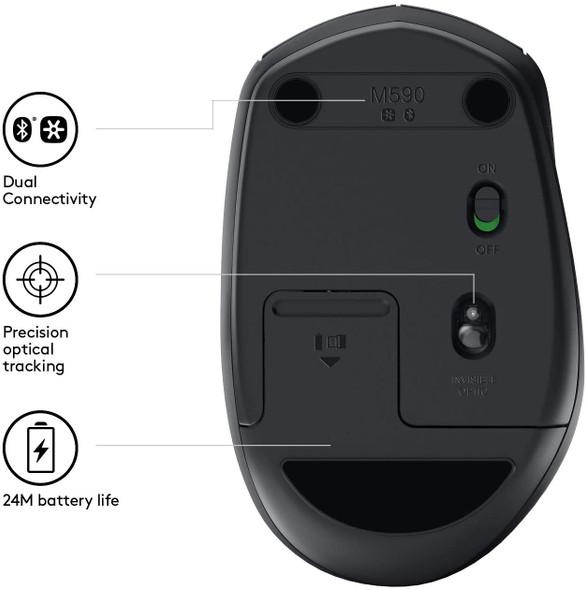 Logitech M590 Wireless/Bluetooth Mouse | M590