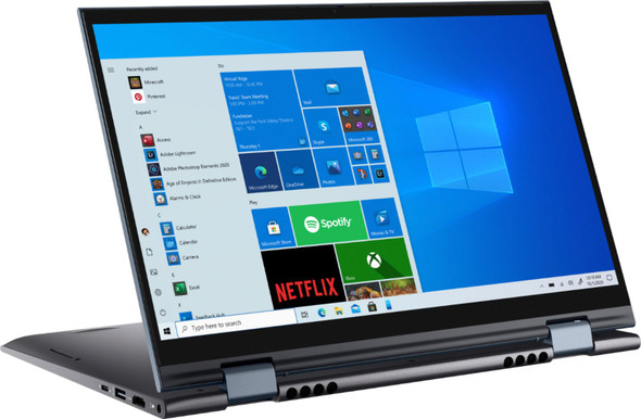 """Dell - Inspiron 7000 2-in-1 14.0"""" Touch-Screen Laptop - AMD Ryzen 7 - 16GB Memory - 512GB Solid State Drive - Blue 