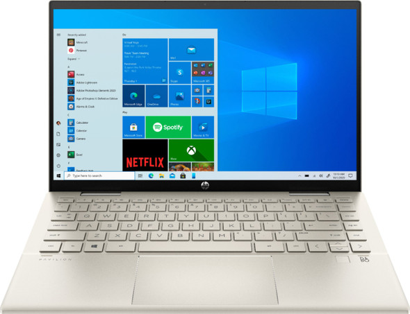 """HP - Pavilion x360 2-in-1 14"""" Touch-Screen Laptop - Intel Core i5 - 8GB Memory - 256GB SSD - Warm Gold   14m-dy0023dx"""