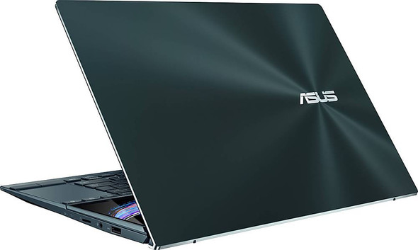 """ASUS - ZenBook Duo 14"""" Touch-Screen Laptop - Intel Core i7 - 8GB Memory - 512GB SSD - Celestial Blue 