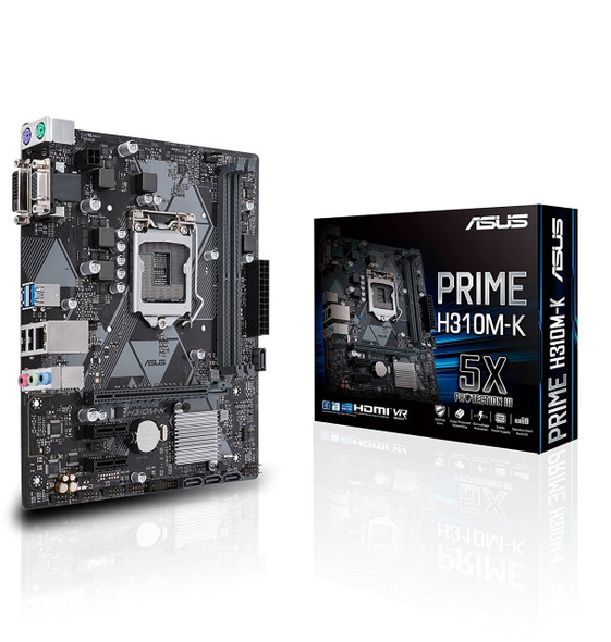 Motherboard ASUS PRIME H310M-K Intel LGA-1151 mATX , DDR4 2666MHz, SATA 6Gbps and USB 3.1 Gen 1