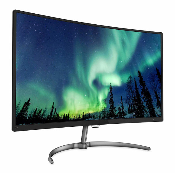 Philips 278E8QJAB 27-Inch VA Full HD Curved Monitor with Speakers - Black