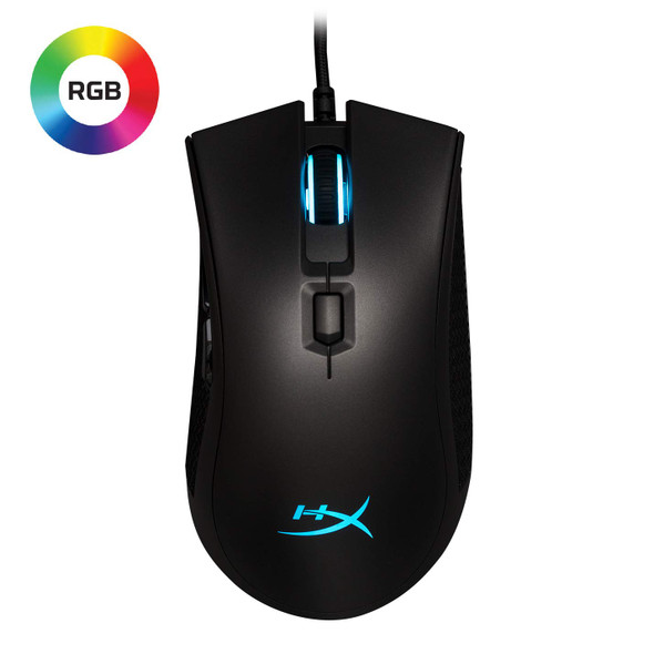 HyperX Pulsefire FPS Pro - Gaming Mouse, Software Controlled RGB Light Effects & Macro Customization, Pixart 3389 Sensor Up to 16, 000Dpi, 6 Programmable Buttons, Mouse Weight 95G (HX-MC003B)