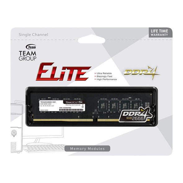 RAM Team Elite  8GB, 16GB DDR4 2666Mhz Desktop Memory