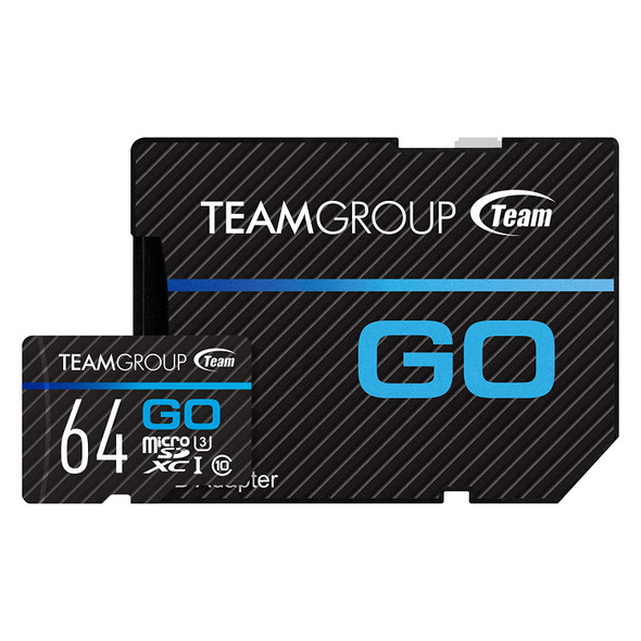 TEAM GROUP GO Card UHS-I U3 MicroSD CARD 32GB, 64GB for professional photographer