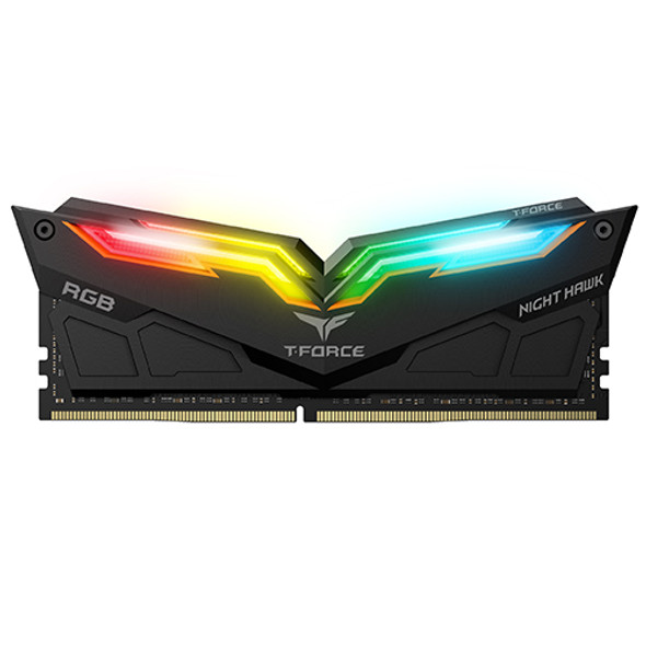 RAM Team T-Force Night Hawk RGB 16GB (2 x 8GB), 32GB(2*16GB) 288-Pin DDR4 3000/3200 (PC4 25600) Memory (Desktop Memory)