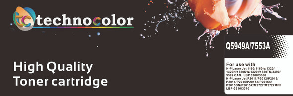 TechnoColor 49A Black HP Compatible LaserJet Toner Cartridge ( Q5949A )