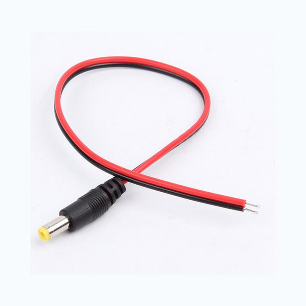 12V DC Power Adapter male Cable 5.5 X 2.1mm CCTV Camera Power Connector Wire male security monitoring power supply line