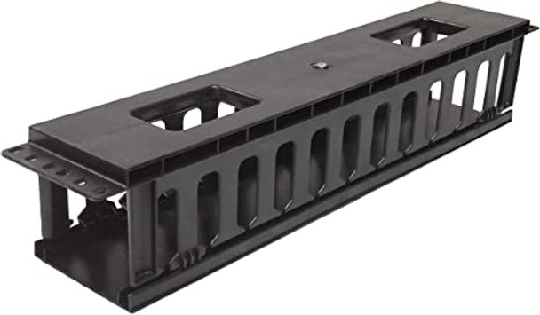 Plastic Horizontal 1U Cable Management with Cap For Network Cabinets