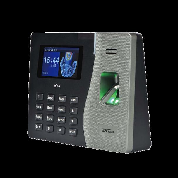 ZKT K14 Time attendance Standalone Fingerprint Reader with Network Capability (RFID access)