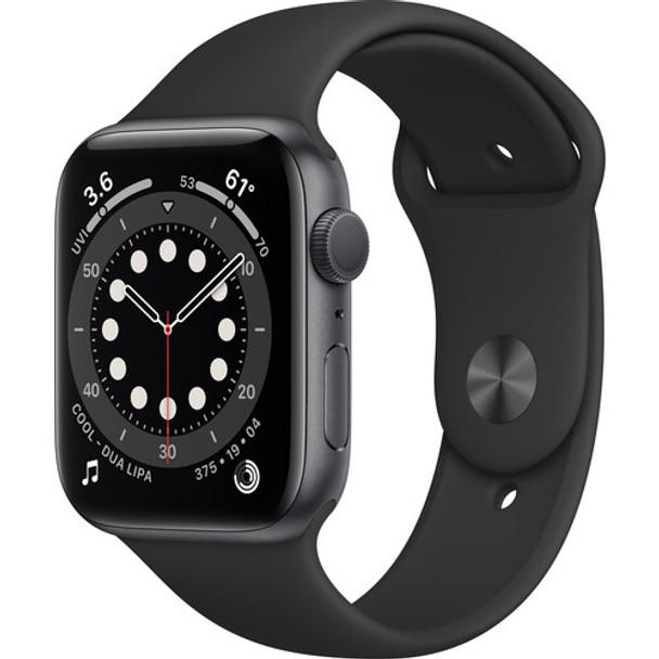 Apple Watch Series 6 ( GPS, 44mm, Space Gray Aluminum, Black Sport Band )