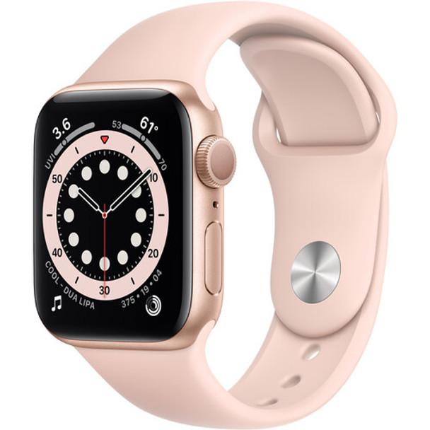 Apple Watch Series 6 MG123LL/A ( GPS, 40mm, Gold Aluminum, Pink Sand Sport Band )