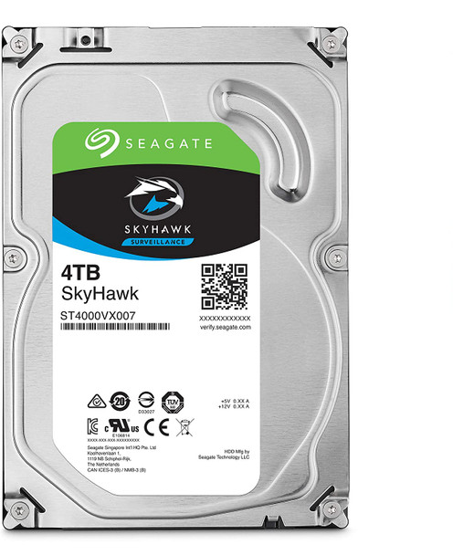 Seagate Skyhawk 4TB Surveillance Internal Hard Drive HDD – 3.5 Inch SATA 6GB/s 64MB Cache for DVR NVR Security Camera System with Drive Health Management – Frustration Free Packaging | ST4000VX007 (AC1CSSS3)