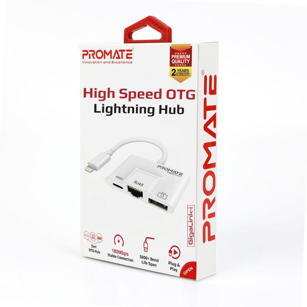 PROMATE PROMATE 3-in-1 High Speed OTG Lightning Hub   GigaLink-i (6959144044705)