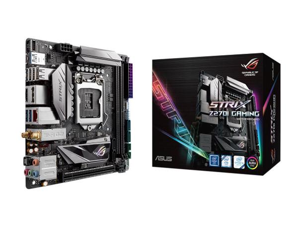 ASUS ROG STRIX Z270I GAMING LGA 1151 Intel Z270 HDMI SATA 6Gb/s USB 3.0 Mini ITX Motherboard