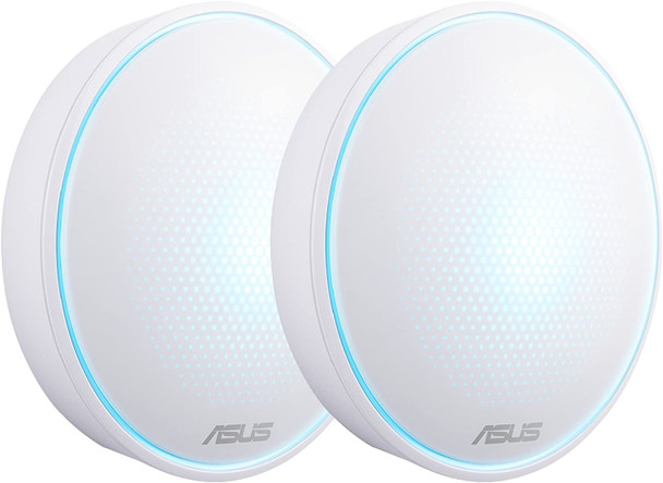 SUS AC1300 (2-Pk) Lyra Mini Map Dual Band Whole-Home Mesh Wi-Fi System, With Aimesh Support, Aiprotection Network Security Powered By Trend Micro And Advanced Parental Controls, White